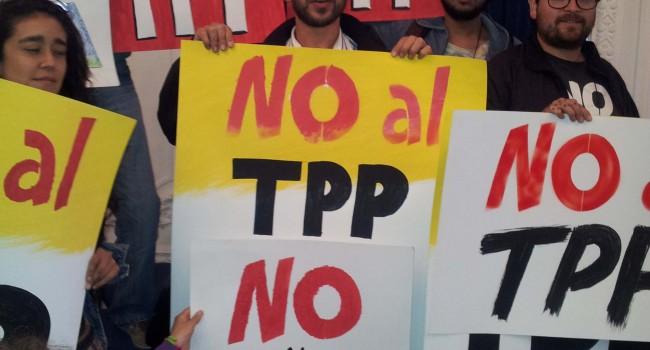 """Pancartas No TPP en el encuentro """"AguANte la Vida"""" 8 de noviembre"""